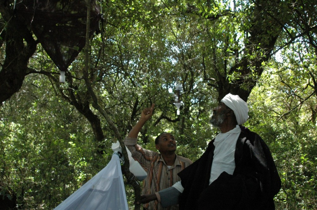 The Priest visited our field sampling sites in the forest