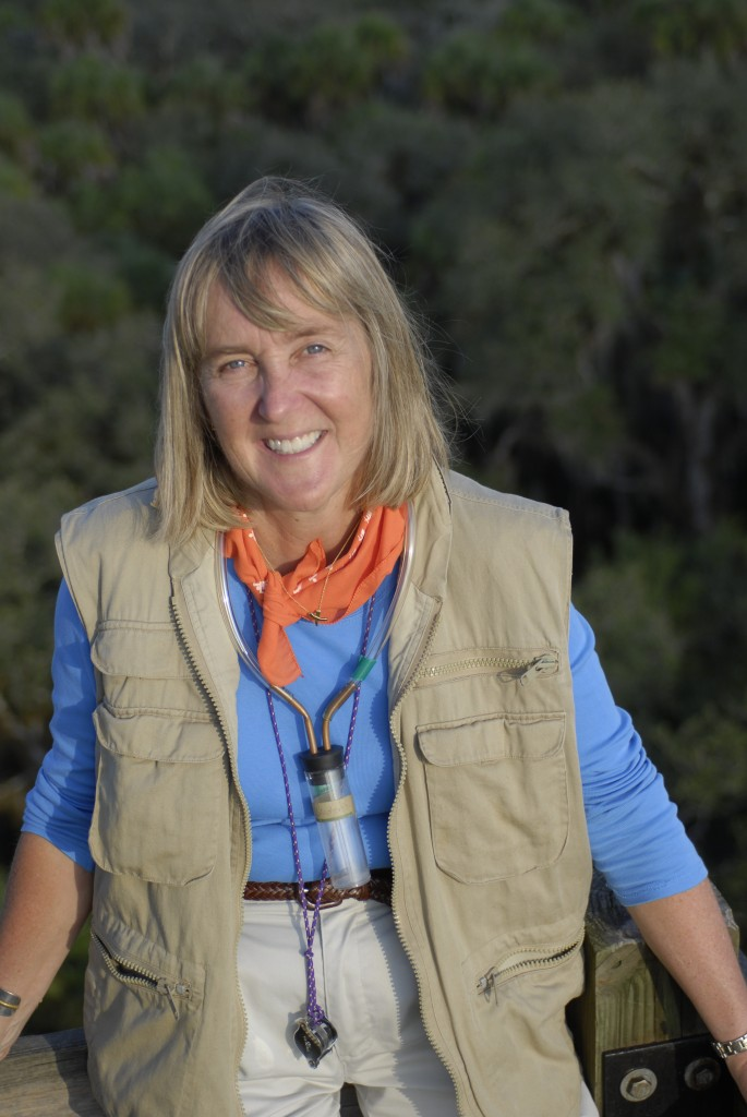 Meg Lowman atop the Myakka Canopy Walkway