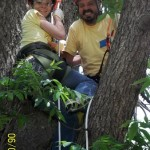 Student Chelsea Wallace and Tree Climbing Kansas City's Stan Stalnaker.