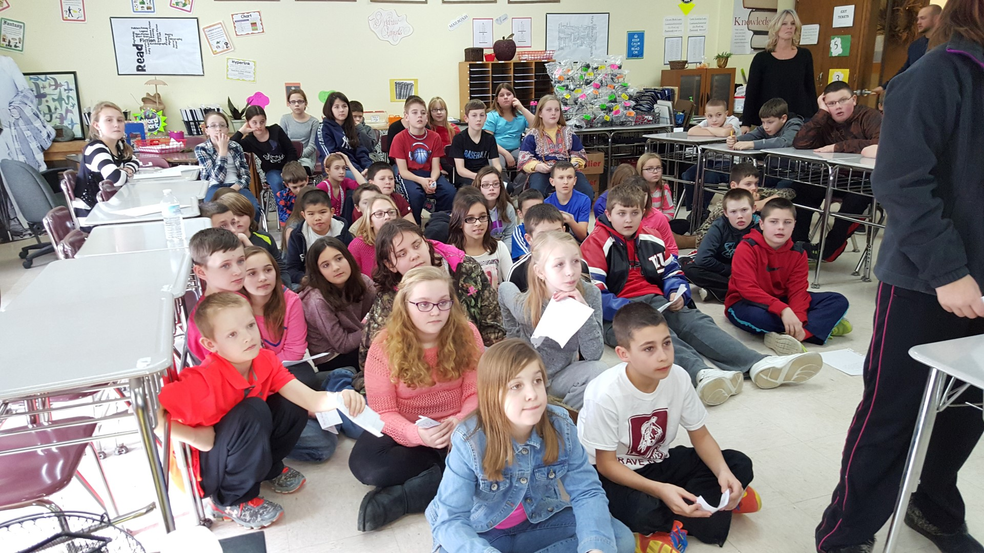 fifth grade class skype session with canopymeg