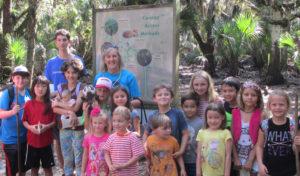 Lowman and children group at Myakka